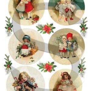 Karácsonyi sorozat: Karácsonyi gömbök 3., Papír, Decoupage papír, Decoupage, szalvétatechnika, Decoupage minták, A 4-s méretű rizsnyomat, vékony 20 gr-s rizspapíron, découpage technikához. Az eredeti nyomatot vízj..., Meska