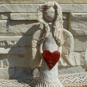 Angyalka piros szívvel (VintageGarden) - Meska.hu