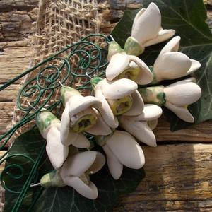 10 szál kerámia hóvirág (VintageGarden) - Meska.hu