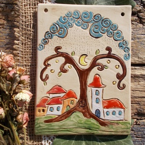 Falikép az  apró házak kedvelőinek. :) (VintageGarden) - Meska.hu