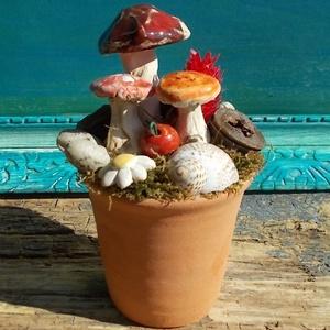 Asztaldísz gombákkal (VintageGarden) - Meska.hu
