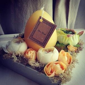 Húsvéti dobozka, Otthon & Lakás, Dekoráció, Asztaldísz, Kedvenced a sárga? Imádni fogod, ezt az aprócska sárga dekorációt.   Mérete: kb. 14 cm átmérőjű...., Meska