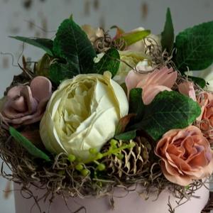 Tavaszi, virágdoboz. (VintageHomeDekor) - Meska.hu