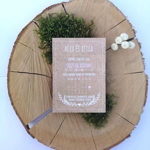 Natúr szépség esküvői meghívó, Esküvő, Meghívó, ültetőkártya, köszönőajándék, Fotó, grafika, rajz, illusztráció, Bohém külső, igazi amerikai tipusú esküvői meghívó bevállalósoknak. :D\n\nMérete: 11*15.3\n\nFelhasznált..., Meska