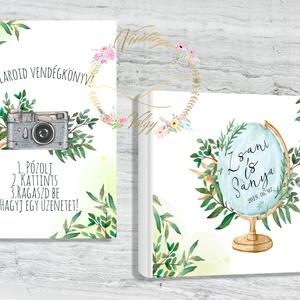 A4 méretű , egyedileg személyre szabott POLAROID FOTÓKÖNYV, kreatív vendégkönyv + A4 méretű poszter, Esküvő, Esküvői dekoráció, Meghívó, ültetőkártya, köszönőajándék, Fotó, grafika, rajz, illusztráció, Alkossuk meg együtt az esküvői Polaroid könyvetek kinézetét!\nManapság nagy divat, hogy az esküvő pil..., Meska