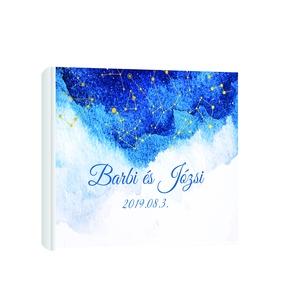 A4 méretű polaroid vendégkönyv ajándék poszterrel!!!, Esküvő, Meghívó, ültetőkártya, köszönőajándék, Könyvkötés, Fotó, grafika, rajz, illusztráció, Manapság nagy divat, hogy az esküvő pillanatait a családtagok és rokonok szemén keresztül örökíttess..., Meska