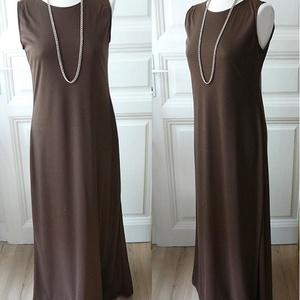 Brown Nature - egész ruha, Ruha & Divat, Női ruha, Ruha, Varrás, Könnyed, pamut egész ruha. Ha valami klasszikusra, időtállóra, elegánsra vágsz.  \n\nSzíne anyagkészle..., Meska