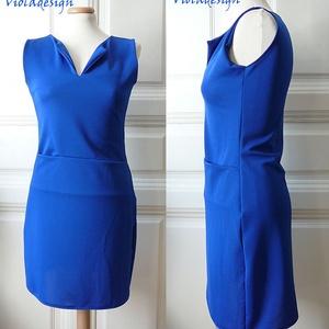Blue Dream - női egész ruha, Táska, Divat & Szépség, Női ruha, Ruha, divat, Ruha, Varrás, Akvamarin kék divatos egész ruha zsebbel. Letisztult, és extra nőies. Válltól mért hossza 84 cm.\n\nAm..., Meska