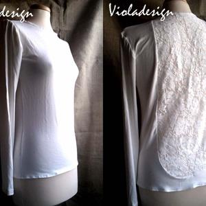 """Felhőtánc - női felső, Ruha & Divat, Női ruha, Póló, felső, Az előző modellem fehér """"párja"""" készült most el. Szintén pamut anyaggal ötvöztem a hátán az elasztik..., Meska"""