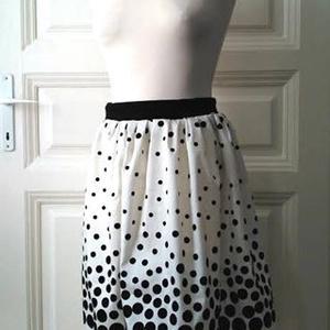 Mary Poppins - szoknya, Táska, Divat & Szépség, Női ruha, Ruha, divat, Szoknya, Varrás, Elegáns taft szoknya. Klasszikus fekete-fehér pöttyös. Alkalmi darab, minden korosztálynak. Ha megad..., Meska