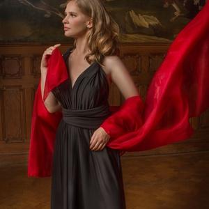 Origami Dress, Ruha, Női ruha, Ruha & Divat, Varrás, Millióféle módon variálható ez a csodás maxiruha. Lehelet vékony rugalmas anyagból készült alkalmi m..., Meska