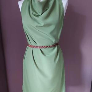 Beauty in Green - egész ruha, Ruha & Divat, Ruha, Női ruha, Nehéz selyemből készült alkalmi ruha ejtett nyakmegoldással. A rendeléshez szükséges  * mellbőség * ..., Meska
