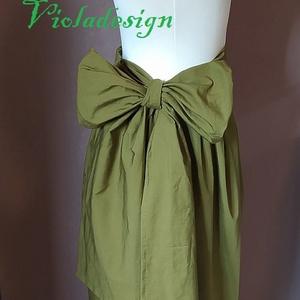 Miss Dior - midi, Ruha & Divat, Női ruha, Szoknya, Varrás, Könnyed pamutvászonból készült romantikus midi szoknya, masnis, a kényelem érdekében hátul lépés has..., Meska
