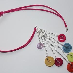 Színes gomb nyaklánc (VioletDots) - Meska.hu