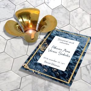Kékmárvány esküvői meghívó, szett, elegáns esküvőre, Esküvő, Naptár, képeslap, album, Meghívó, ültetőkártya, köszönőajándék, Képeslap, levélpapír, Fotó, grafika, rajz, illusztráció, Nagyon elegáns, sötétkék márvány egy kevés finom arany csillogással.  Kiváló minőségű, vastag (250 ..., Meska