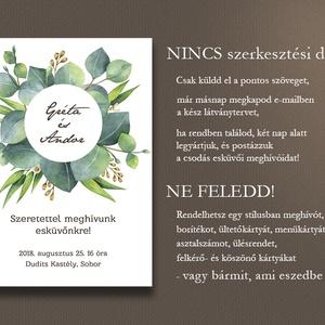 Esküvői meghívó borítékban - greenery (viori) - Meska.hu