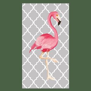 Flamingó kép, Dekoráció, Otthon, lakberendezés, Képzőművészet, Naptár, képeslap, album, Fotó, grafika, rajz, illusztráció, Nagyméretű, pink flamingó, szürke, marokkói mintás háttéren. Csajos, glamouros szobába ajánlom. Kiv..., Meska