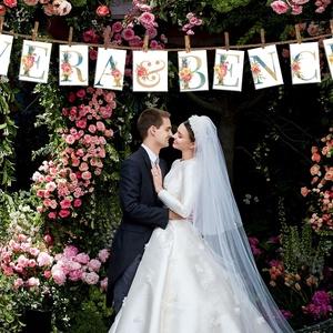Romantikus felirat, betűk esküvőre, Esküvő, Esküvői dekoráció, Fotó, grafika, rajz, illusztráció, Romantikus és csillogó feliratok. A5 méretben, kiváló minőségű, vastag (350 grammos) műnyomó (fénye..., Meska