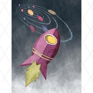 Űrhajós leszek - kép sorozat kisfiúnak gyerekszobába, Otthon, lakberendezés, Baba-mama-gyerek, Gyerekszoba, Baba falikép, Fotó, grafika, rajz, illusztráció, Képsorozat leendő űrhajósoknak! Űrhajók, bolygók, üstökösök, meteorrajok, galaxisok, a Hold, a Föld..., Meska