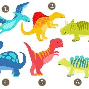 Barátságos dinoszauruszok - kép sorozat gyerekszobába, babaszobába (viori) - Meska.hu