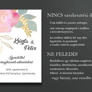 Esküvői meghívó különleges borítékban - arany vonalakkal rajzolt (viori) - Meska.hu