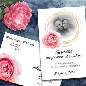 Fényképes esküvői meghívó, Esküvő, Meghívó, Meghívó & Kártya, Tegyétek egyedivé esküvői meghívótokat a saját fotótokkal! Bármelyik grafikámba belekomponálom a fén..., Meska