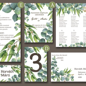 Esküvői meghívó különleges borítékban - greenery (viori) - Meska.hu