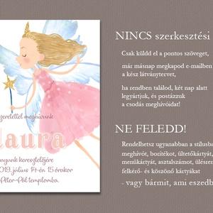 Kislány meghívó keresztelőre, névadóra, szülinapra (viori) - Meska.hu