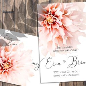 Esküvői meghívó különleges borítékban - tavaszi virágok, Esküvő, Meghívó, ültetőkártya, köszönőajándék, Fotó, grafika, rajz, illusztráció, Pasztellkrétával rajzolt, tavaszi virágok özöne - sokféle elrendezésben kérheted.\nAz alap szett tart..., Meska