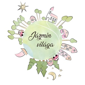 Az én kis világom - névreszóló kép gyerekszobába - otthon & lakás - dekoráció - kép & falikép - Meska.hu