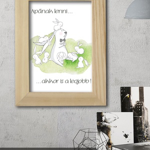 Apának lenni - nyuszis kép gyerekszobába, babaszobába (viori) - Meska.hu