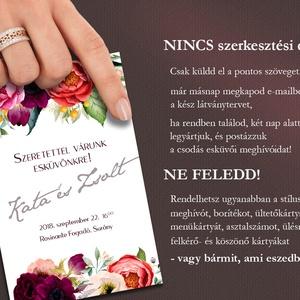 Esküvői meghívó különleges borítékban - tarka virágos (viori) - Meska.hu
