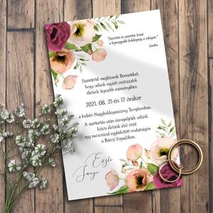 Esküvői meghívó tarka virágos, Esküvő, Meghívó, Meghívó & Kártya, Színpompás virágok, klasszikus elrendezésben.  NINCS SZERKESZTÉSI DÍJ! Véleményem szerint a megfelel..., Meska