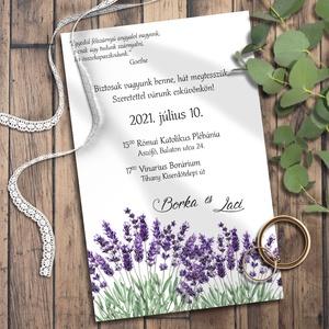 Esküvői meghívó borítékban - levendula (viori) - Meska.hu