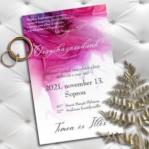 Esküvői meghívó színes tintafolt, Meghívó, Meghívó & Kártya, Esküvő, Fotó, grafika, rajz, illusztráció, Mostanában nagyon trendi a tintafoltos meghívó. Bármilyen színben kérheted!\nAkvarellpapíron olyan ha..., Meska
