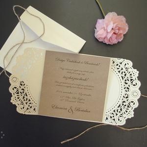 Papírcsipke esküvői meghívó (viori) - Meska.hu