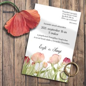 Esküvői meghívó pasztell mezei virágokkal, Esküvő, Meghívó & Kártya, Meghívó, Fotó, grafika, rajz, illusztráció, Kedves kis mezei virágok pasztell színekben. \n\nNINCS SZERKESZTÉSI DÍJ!\nVéleményem szerint a megfelel..., Meska