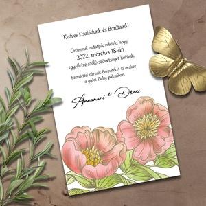 Esküvői meghívó akvarellel, Esküvő, Meghívó & Kártya, Meghívó, Fotó, grafika, rajz, illusztráció, Meska