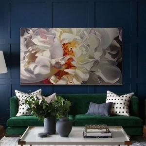 virág festmény, Lakberendezés, Otthon & lakás, Képzőművészet, Festészet, Istók Bernadett festőművész által készített kép. Mérete 70x120cm. Anyaga: vászon, olaj , Meska