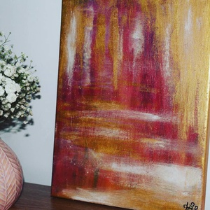 Ragyogás- absztrakt festmény, Otthon & lakás, Képzőművészet, Festmény, Akril, Festészet, Ragyogás- 30x24-es absztrakt, akril festmény feszített vásznon. Eredet igazolással. Nem igényel kere..., Meska