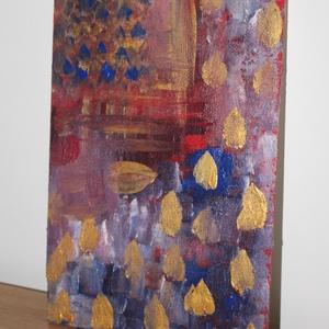 Ősz- absztrakt festmény , Otthon & lakás, Képzőművészet, Festmény, Akril, Festészet, Ősz- 30x20-as absztrakt akril festmény, fa lapon. Keretezést nem igényel. , Meska