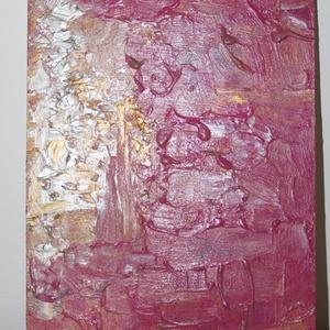Rózsaszín köd- absztrakt festmény, Otthon & lakás, Képzőművészet, Festmény, Akril, Festészet, Fotó, grafika, rajz, illusztráció, Rózsaszín köd- 30x20-as absztrakt akril festmény, fa lapon. , Meska