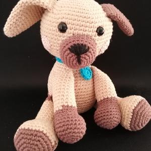 Horgolt amigurumi kiskutyus, Játék & Gyerek, Plüssállat & Játékfigura, Kutya, Horgolás, 2-3 éves kortól ajánlott gyerekeknek. Viszont a kutya rajongók figyelmébe is ajánlom, remek ajándék ..., Meska