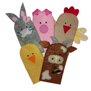 Háziállatok ujjbábkészlet , Játék & Gyerek, Bábok, Ujjbáb, Varrás, Baba-és bábkészítés, Háziállatok ujjbáb formában. :)\n\nGyermeked kedvencei lesznek ezek a kedves kis ujjbábok, akikkel örö..., Meska