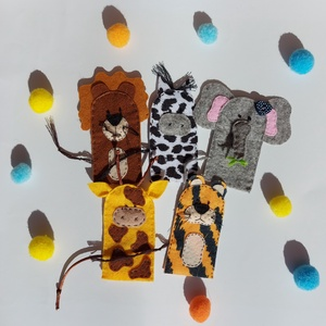 Vadállatok ujjbáb készlet , Játék & Gyerek, Bábok, Ujjbáb, Vadállatok, mégis nagyon  cukik! :)  Egy csapatban az oroszlán, tigris,  zebra, zsiráf és elefánt! :..., Meska