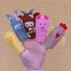 Háziállatok ujjbáb készlet , Játék & Gyerek, Bábok, Ujjbáb, Varrás, Baba-és bábkészítés, Háziállatok ujjbáb formában. :)\n\nGyermeked kedvencei lesznek ezek a kedves kis ujjbábok, akikkel örö..., Meska