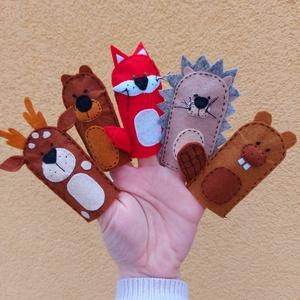 Erdei állatok ujjbáb készlet , Játék & Gyerek, Bábok, Ujjbáb, Baba-és bábkészítés, Varrás, Kedves kis erdei állatok; őzike, maci, róka, süni és hód bábocskák készletben. \n\nFelnőtt és gyermek ..., Meska