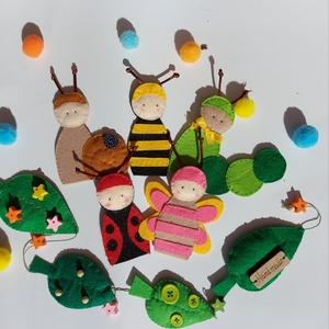 Tavaszi bogárbarátok ujjbáb készlet, Játék & Gyerek, Bábok, Ujjbáb, Baba-és bábkészítés, Varrás, Igazi tavaszi hangulatot teremthetsz ezzel a kedves kis bogaras készlettel! :)\n\nA bogarak ujjbábként..., Meska