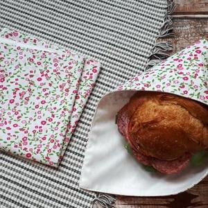 Textil szalvéta 2 db/ szett, Ovi- és sulikezdés, Uzsonna- & Ebéd tartó, Szendvics csomagoló, Varrás, Meska