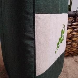 Borostyán (kézi hímzésű) mintával díszített könyvborító - otthon & lakás - papír írószer - Meska.hu